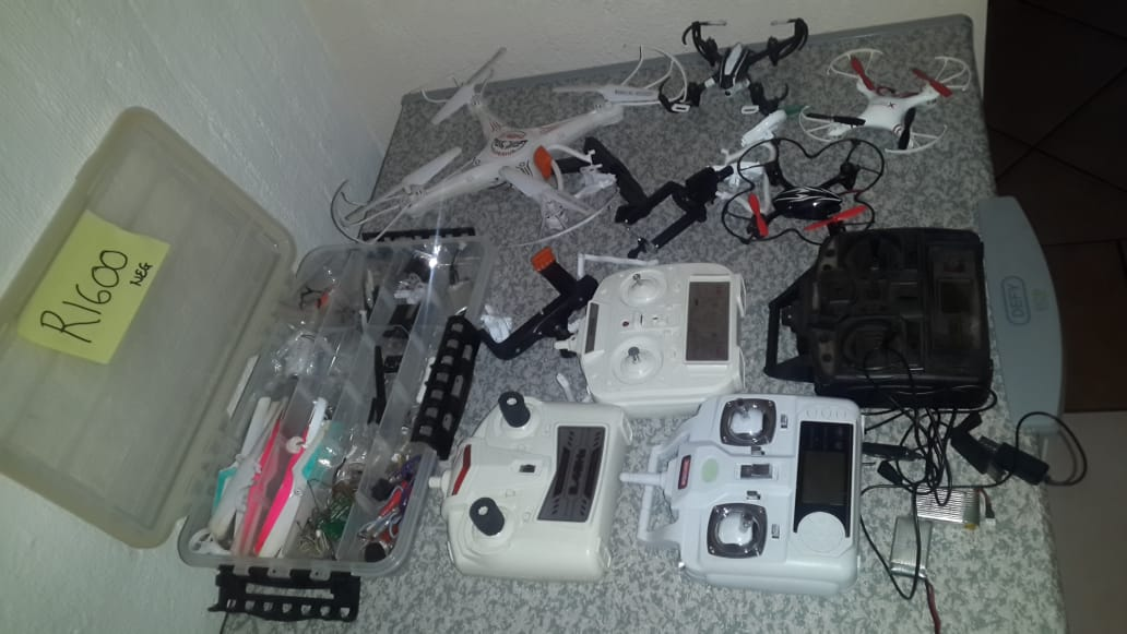 2 x small Drones with spares