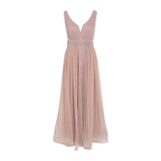 Matric dance dress - Pink Shimmer Maxi dress