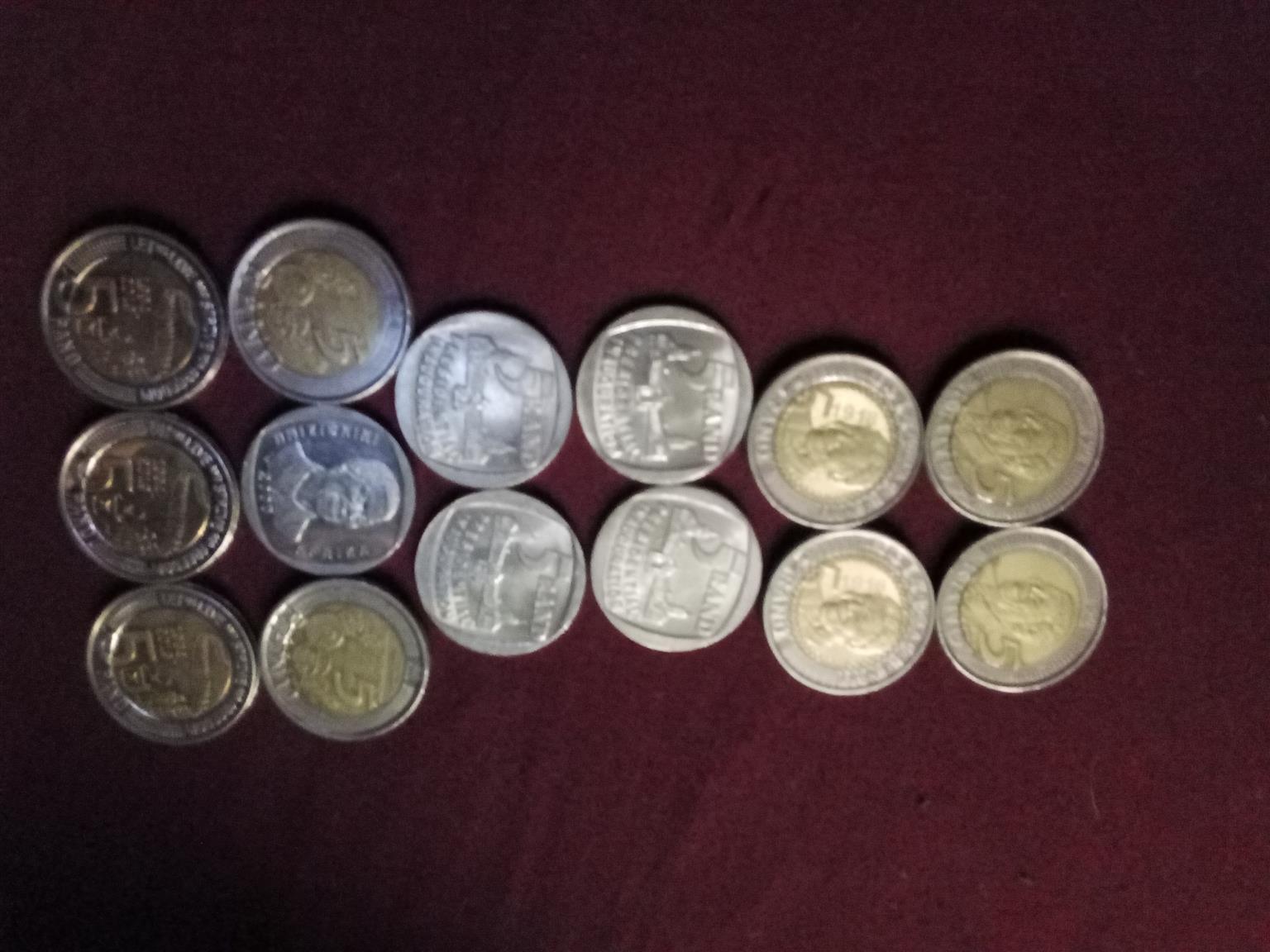 Rare Mandela R5 coins