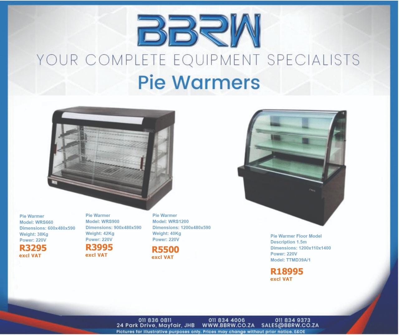BBRW SPECIAL - Pie Warmers