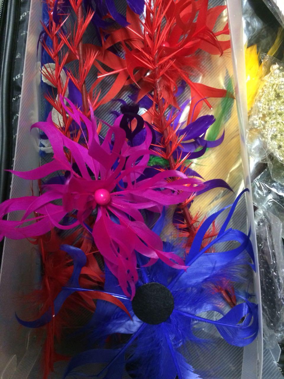 HAT Blocks ,crinoline, flowers and Sinamay
