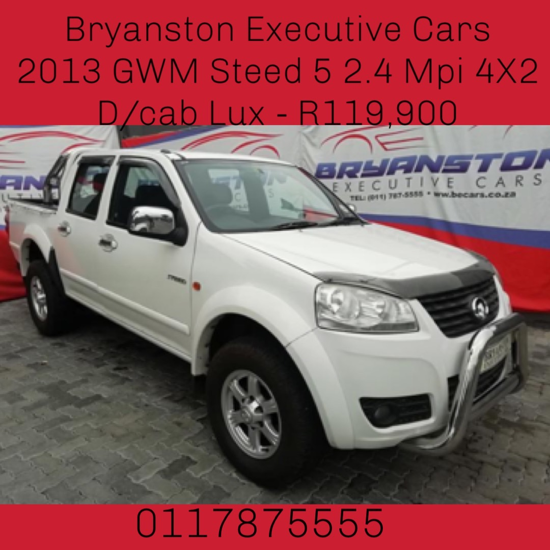 2013 GWM Steed 5 2.4L double cab Lux