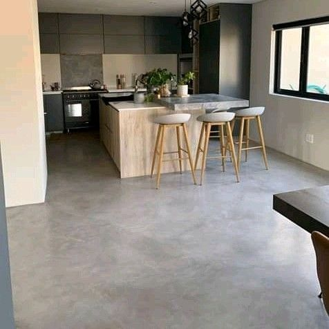 cement coloured screed Flooring and walls