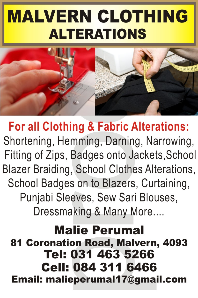 Malvern Clothing and Fabric Alterations