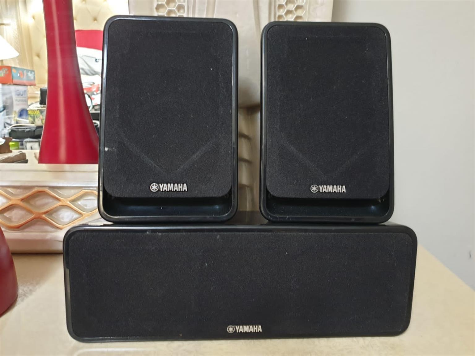 Speakers  × 2 amp turn table audio equipment