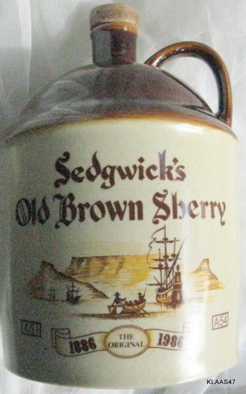 4.5 L Sedgwicks Empty Old Brown Sherry Bottle