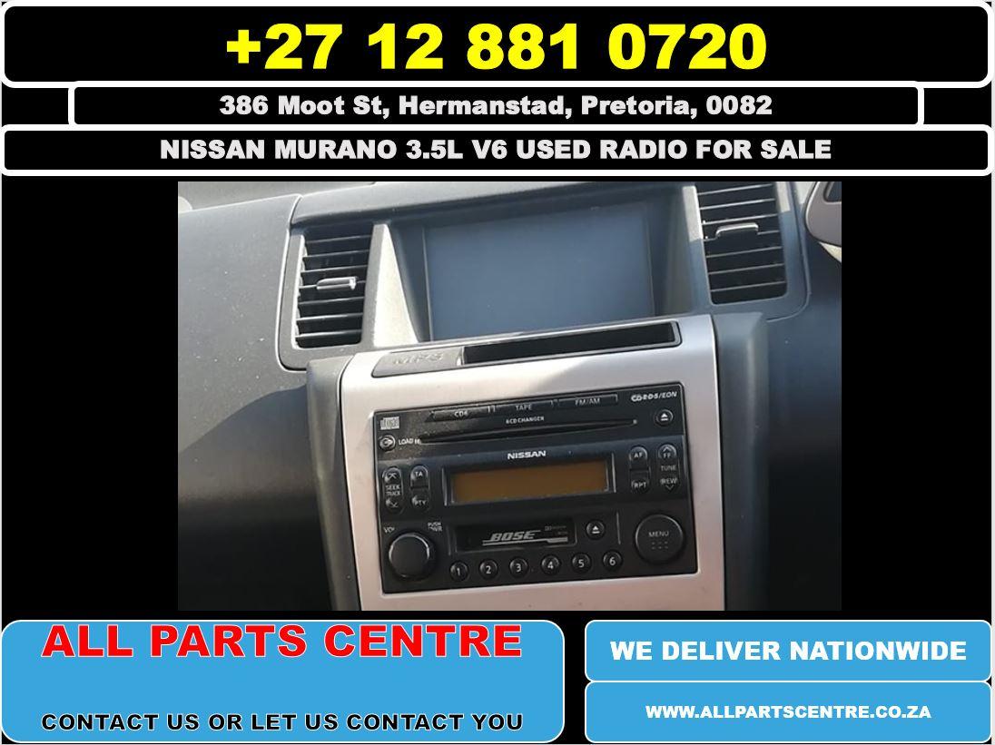 Nissan murano 3.5l v6 used radio for sale