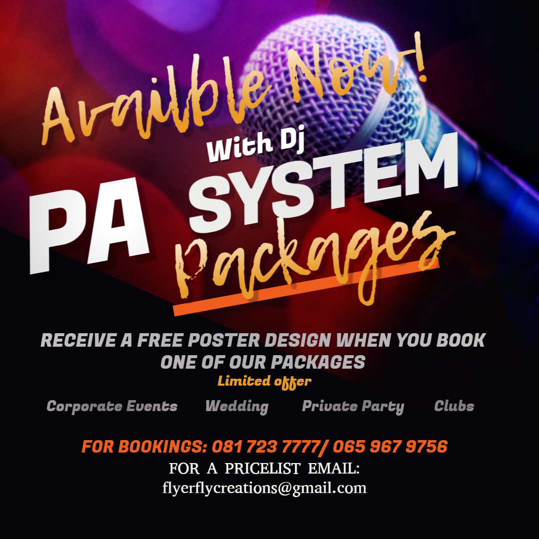PA SYSTEM PACKAGES NOW AVAILABLE FOR HIRE