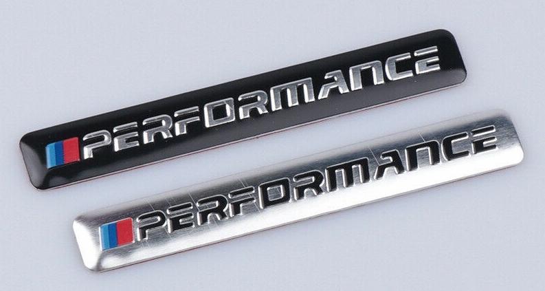 BMW bonnet , boot, chrome grille badges, aluminium M Performance self adhesive badges