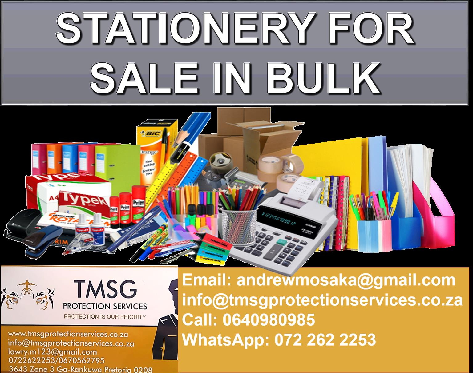 Stationery for sale in Bulk
