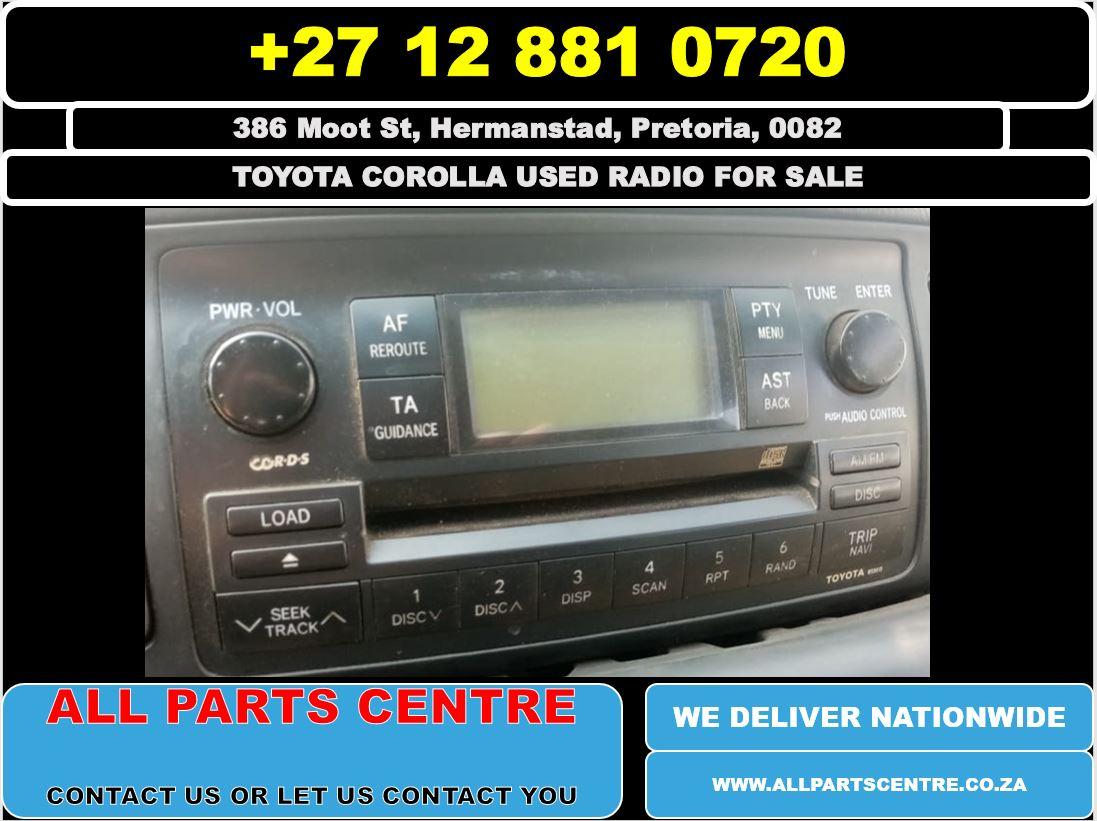 Toyota corolla used radio for slae