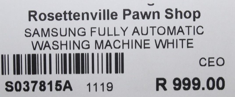 Samsung fully automatic washing machine white S037815A #Rosettenvillepawnshop