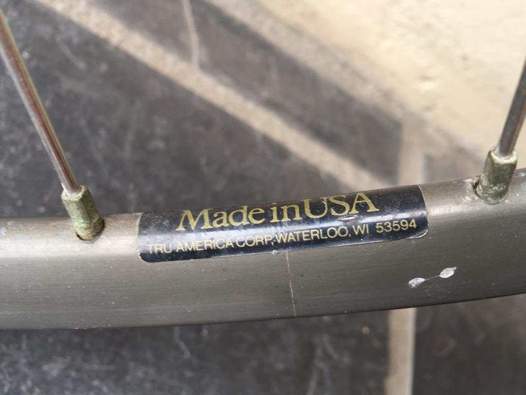 Old school Dura Ace racer bicycle rims - Front and rear rims - sold as a set