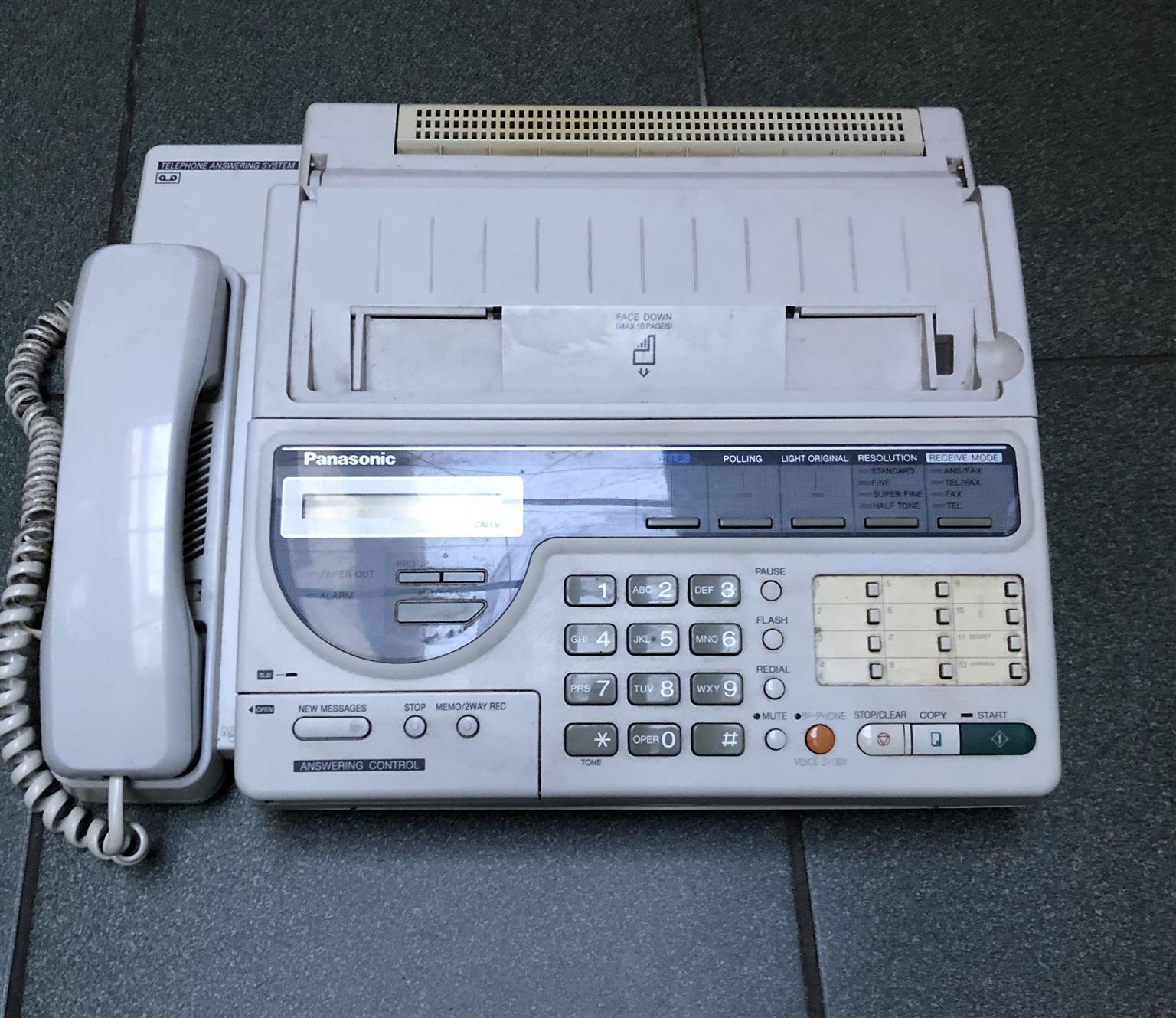 Panasonic KX-F2350SA Telephone Fax and Answering machine