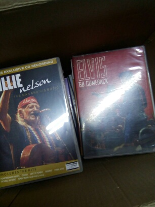 Selection of cds and dvds    from the 60s and 70s