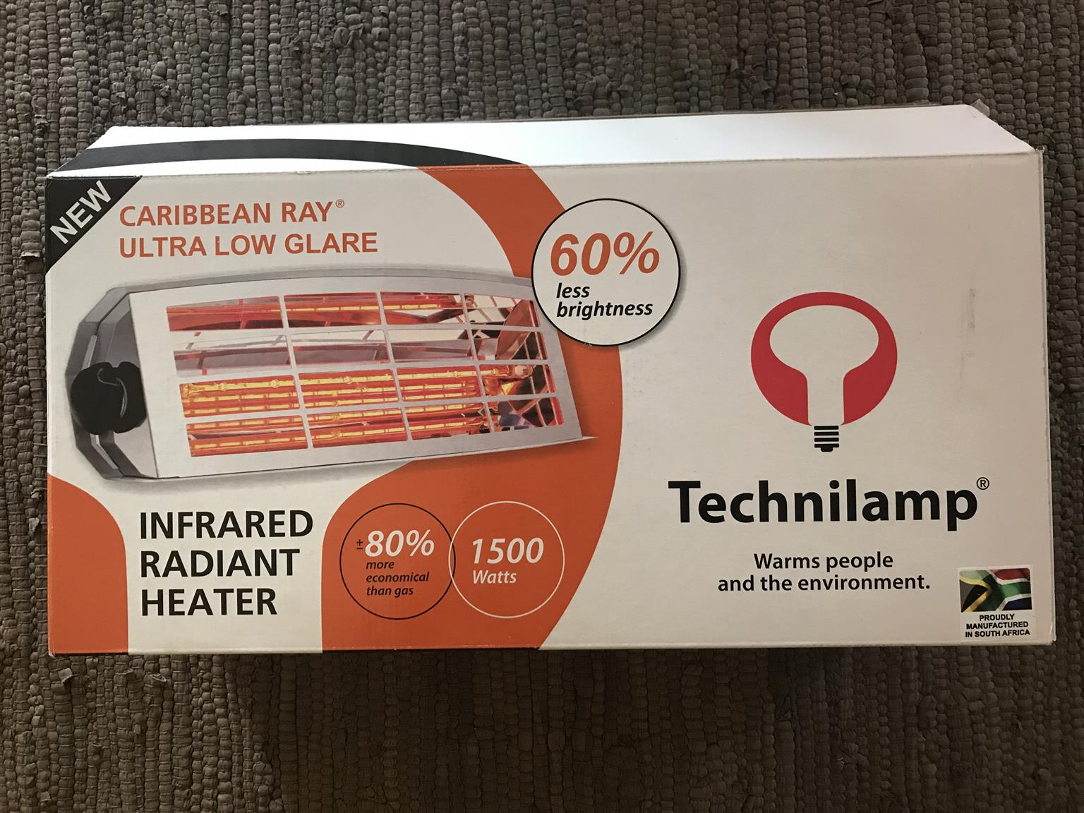 INFRARED ULTRA LOW GLARE CARIBBEAN RAY HEATER (1500W)