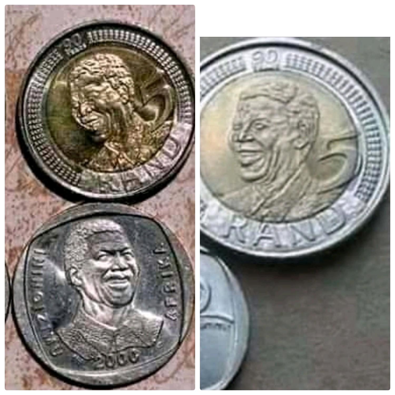 R5 Mandela coins