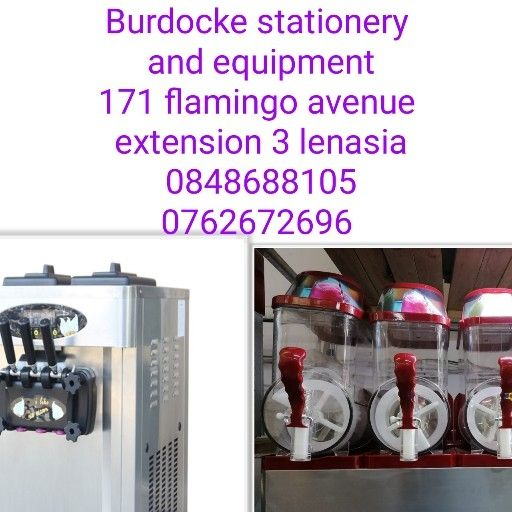 3 barrel slush machine, 3 flavour ice cream and juice machine combo