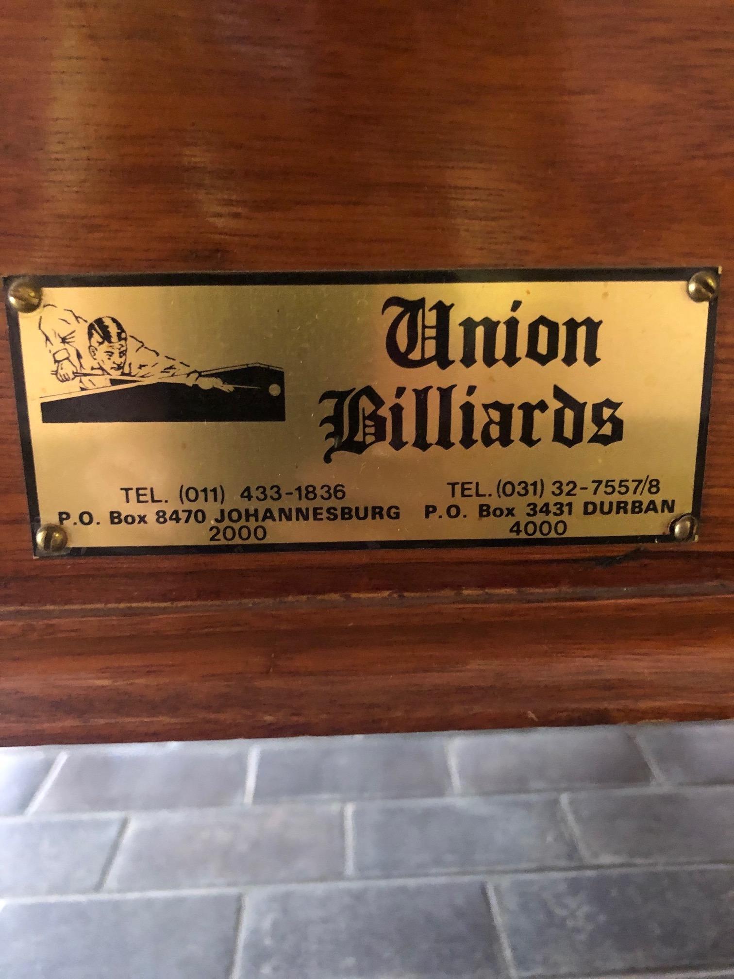 Snooker/Billiards Table 3/4. Union Billiards.