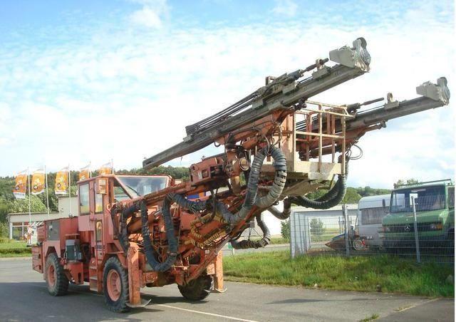 drill rig, excavator, dump truck, road roller, rope shovel, tower