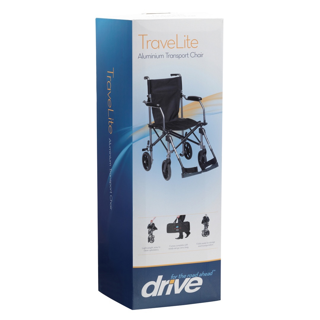 Travelite Wheelchair by Drive Medical - Includes Carrier Bag - On Sale! While Stocks Last.