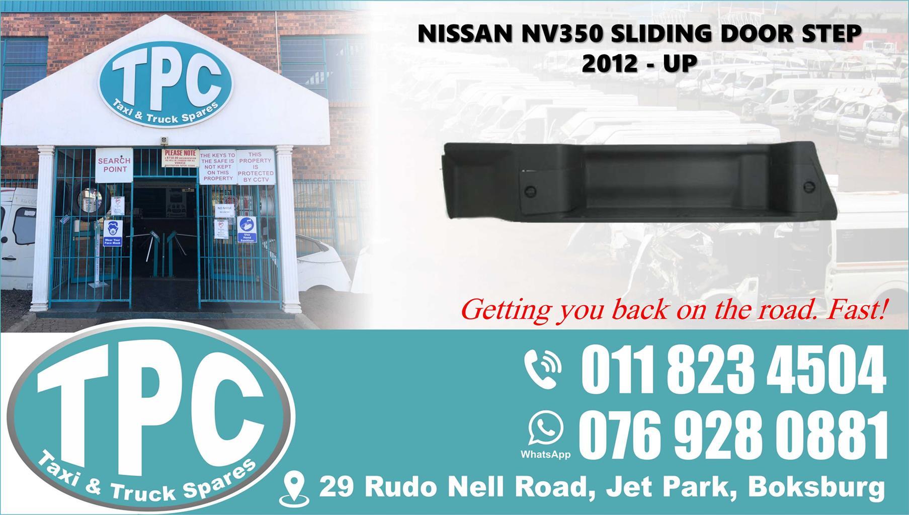 Nissan NV350 Sliding Door Step - 2012 - Up
