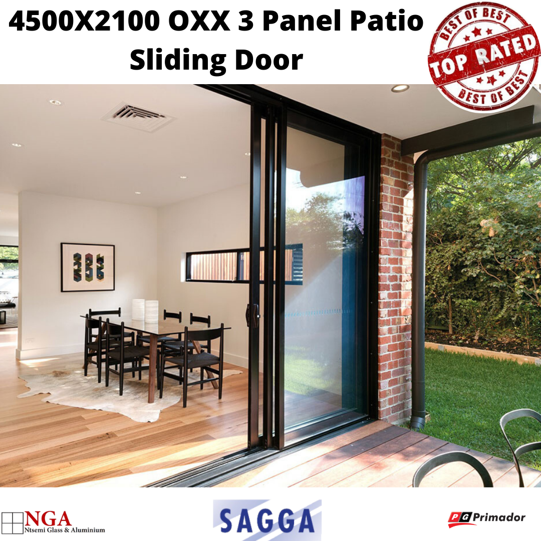 Top Rated Products | A-Class Service | 4500X2100 OXX 3 Panel Patio Sliding Door