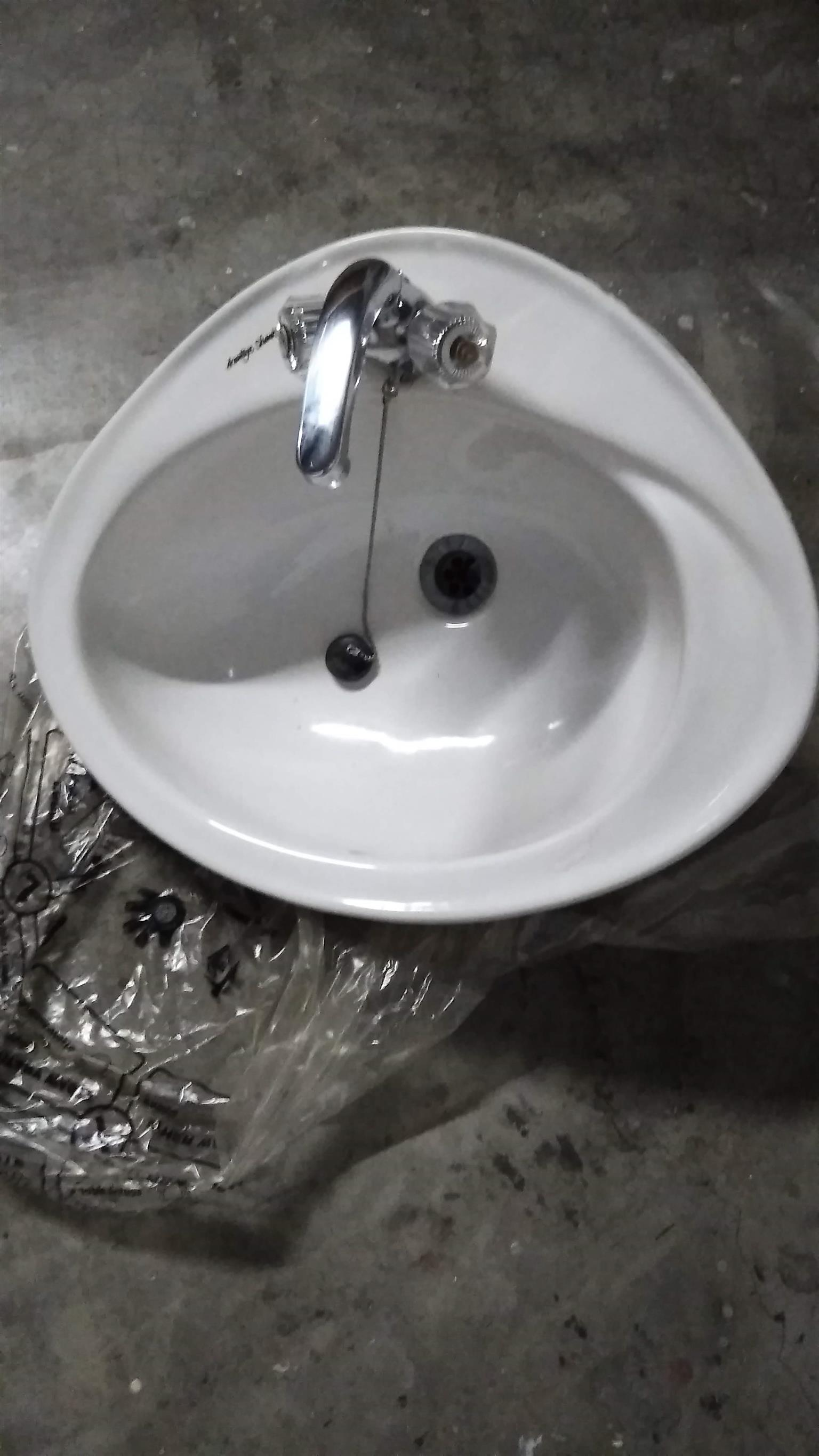 counter basin with tap