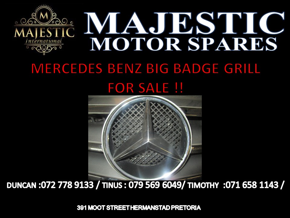 MERCEDES BENZ BIG BADGE GRILL FOR SALE