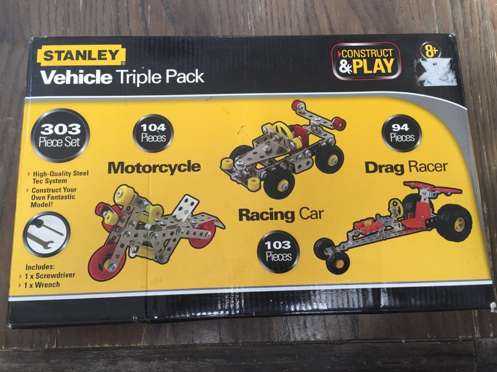 Stanley Construct & Play Vehicle Triple Pack - 214 pieces