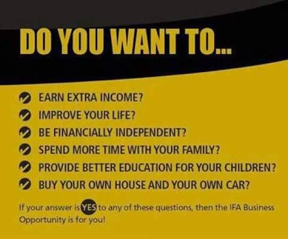 IFA business opportunity