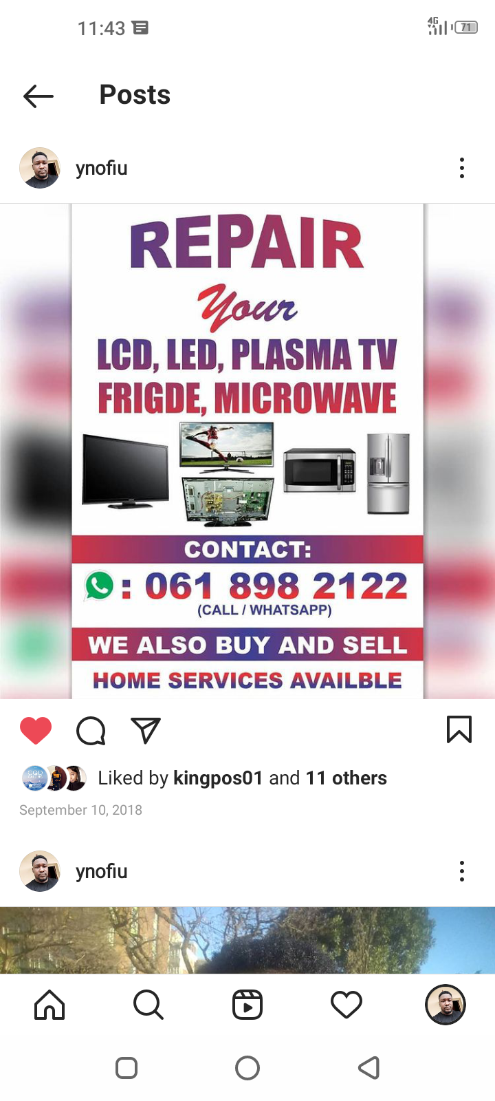 Tvs repairs led lcd plasma tvs we are bank
