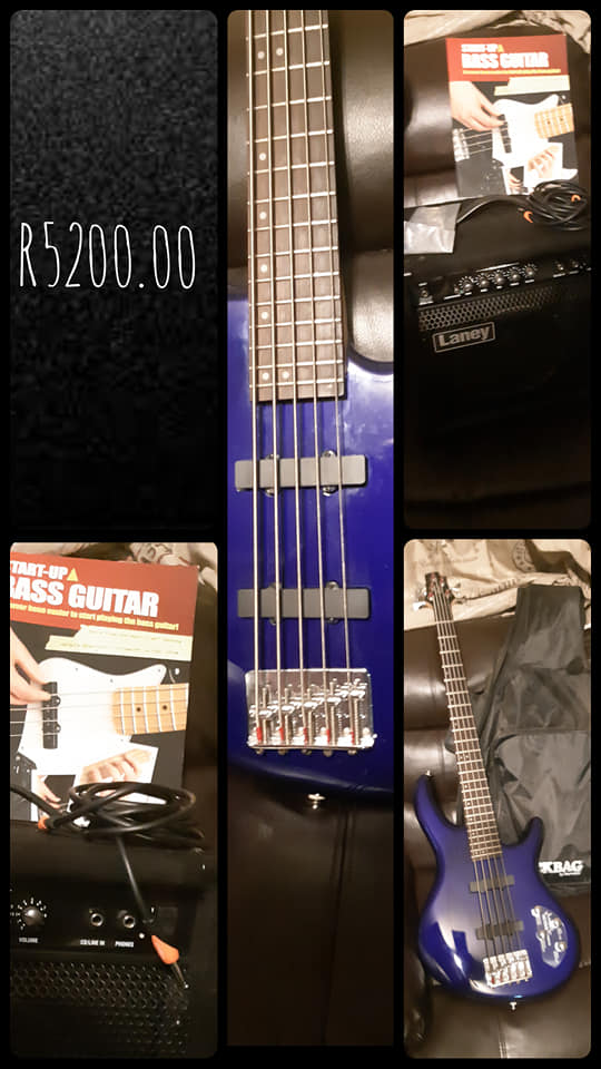 Blue startup base guitar for sale