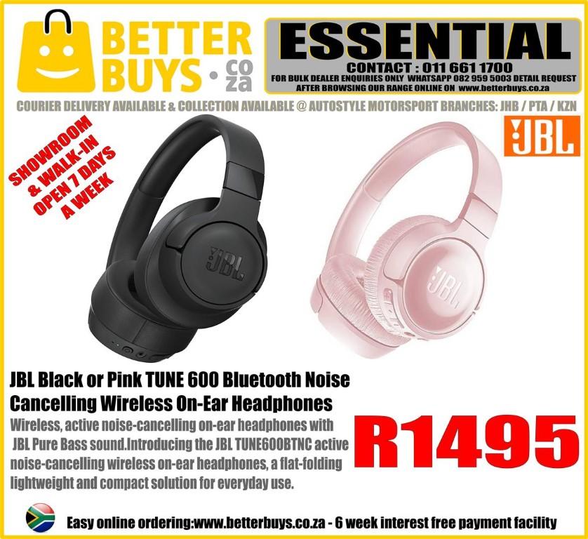JBL TUNE 600 Bluetooth Noise Cancelling Wireless On-Ear Headphones