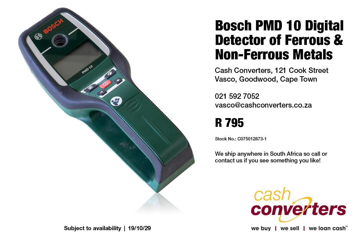 Bosch PMD 10 Digital Detector of Ferrous & Non-Ferrous Metals