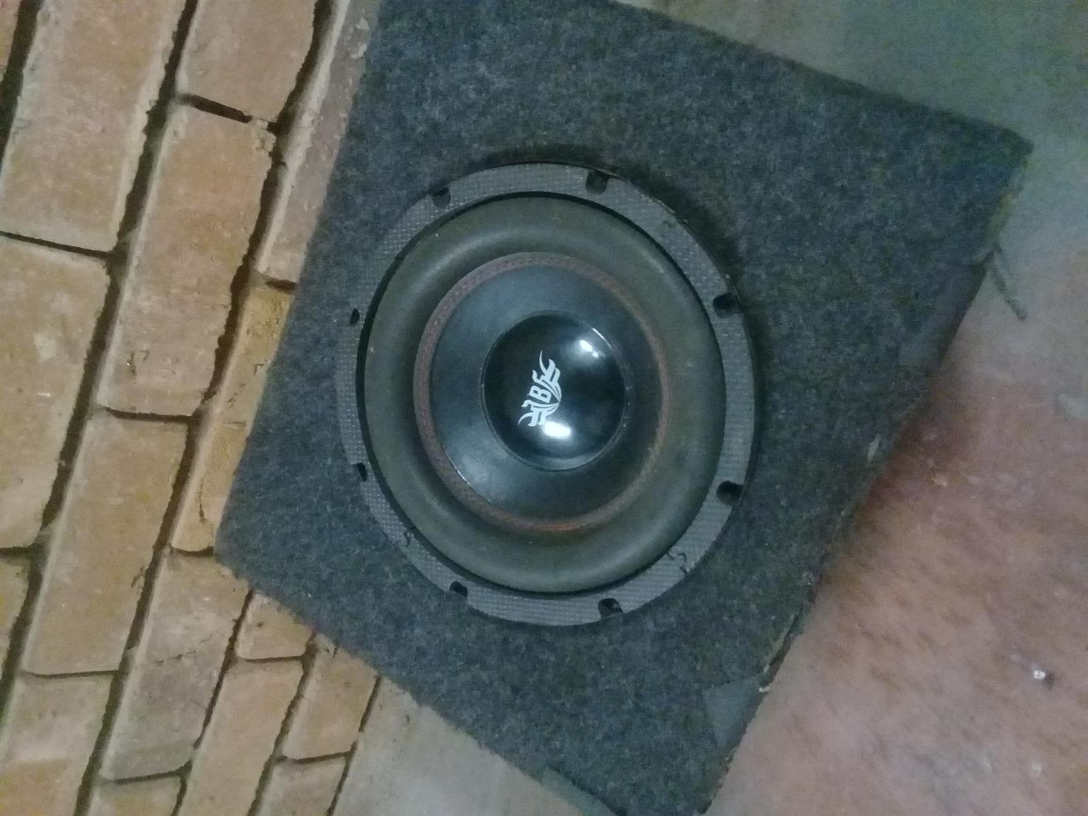 10 inch sub woofer and box