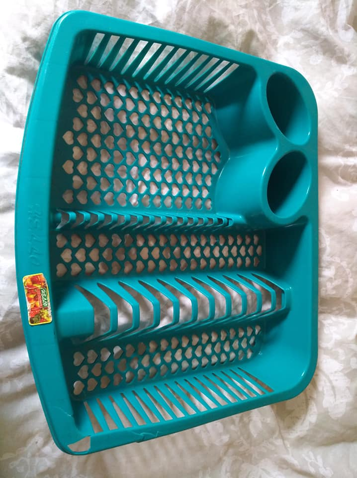 Blue dish drying rack for sale