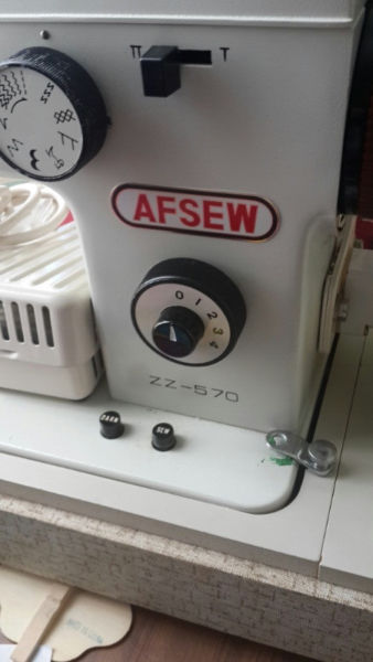 Afsew sewing machine in very good condition model ZZ-570 with accessories and instruction manual