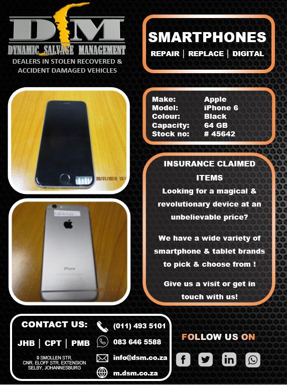 Apple iPhone 6 64GB - Black
