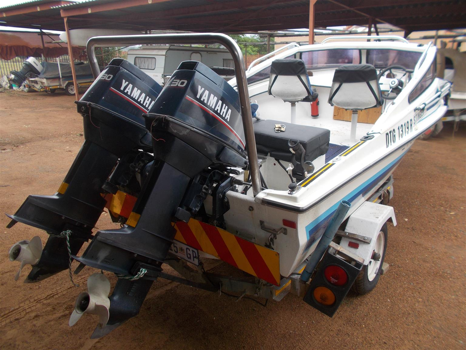 Excellent boat with two 30 HP Yamaha Engines