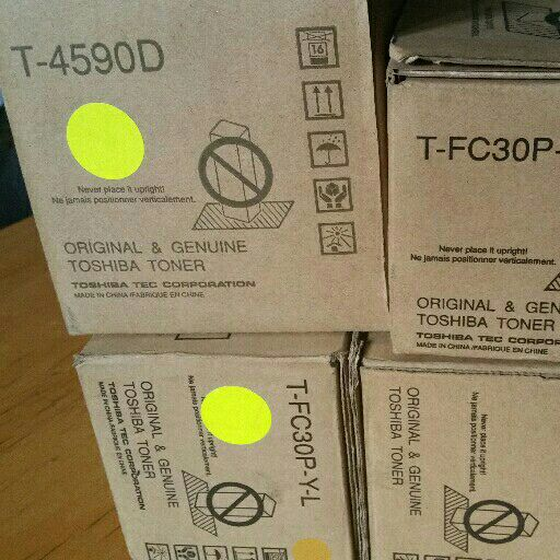 Toshiba TFC30P ML, T4590D, yellow.magenta and Cyan toner cartridges available for urgent sales