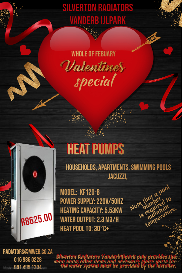 Heatpumps for Swimming Pools and Jacuzzi's