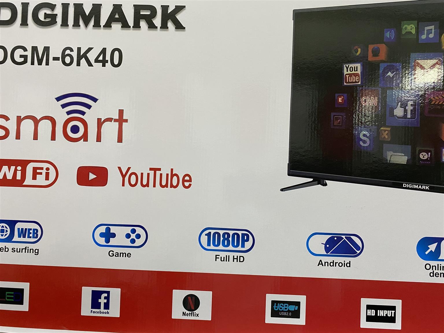 40 inch DIGIMARK smart TVs