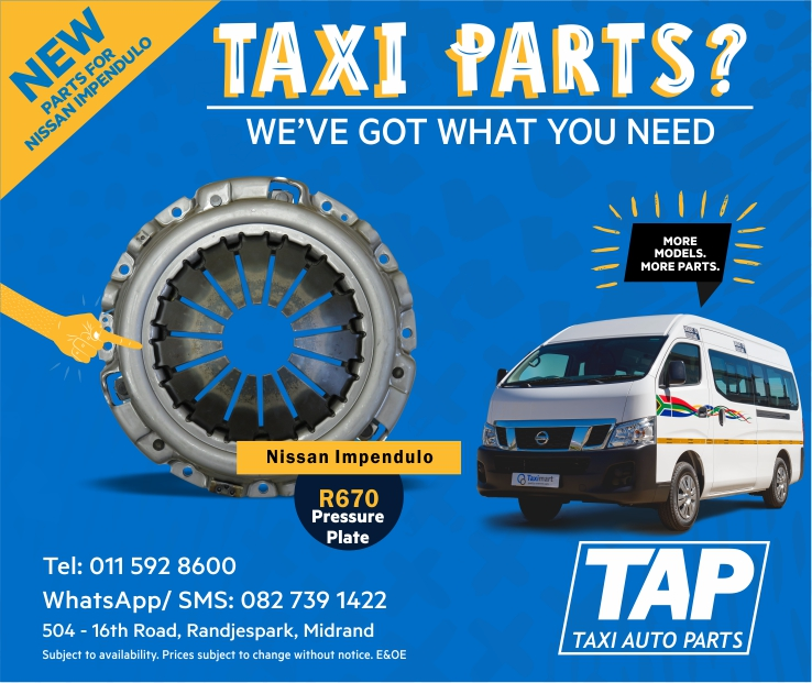 NEW parts for Nissan Impendulo - Pressure Plate - Taxi Auto Parts TAP