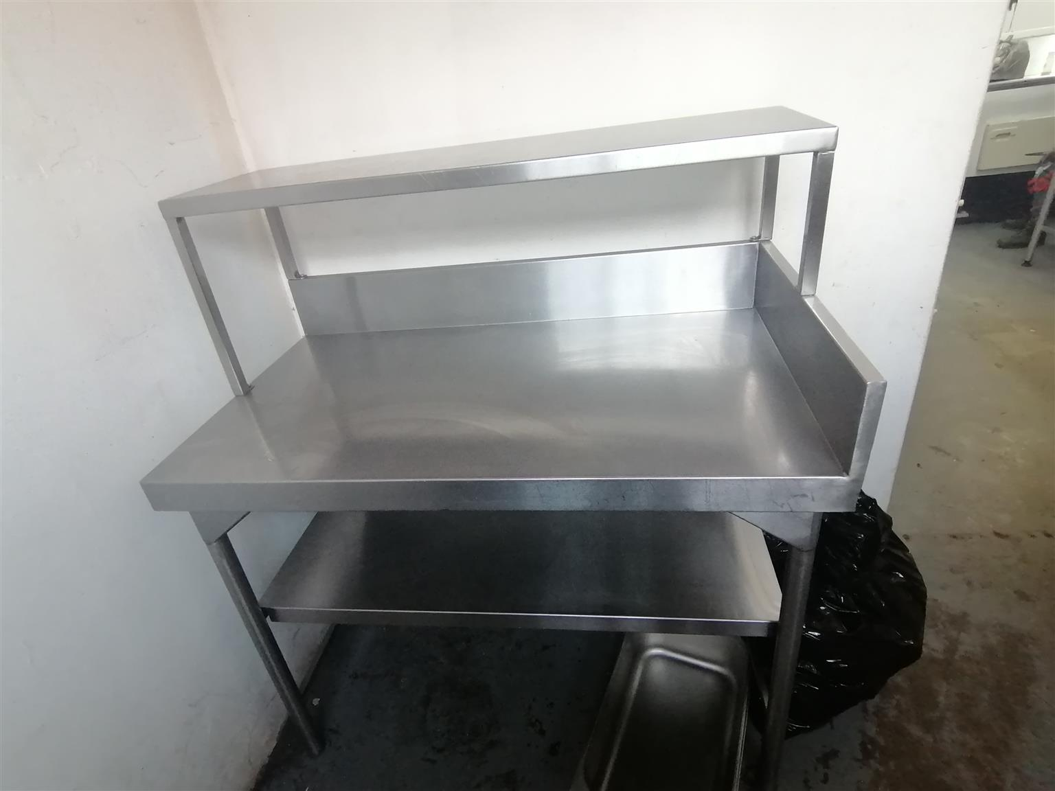 Stainless Steel 1.2m Table 2x Selves