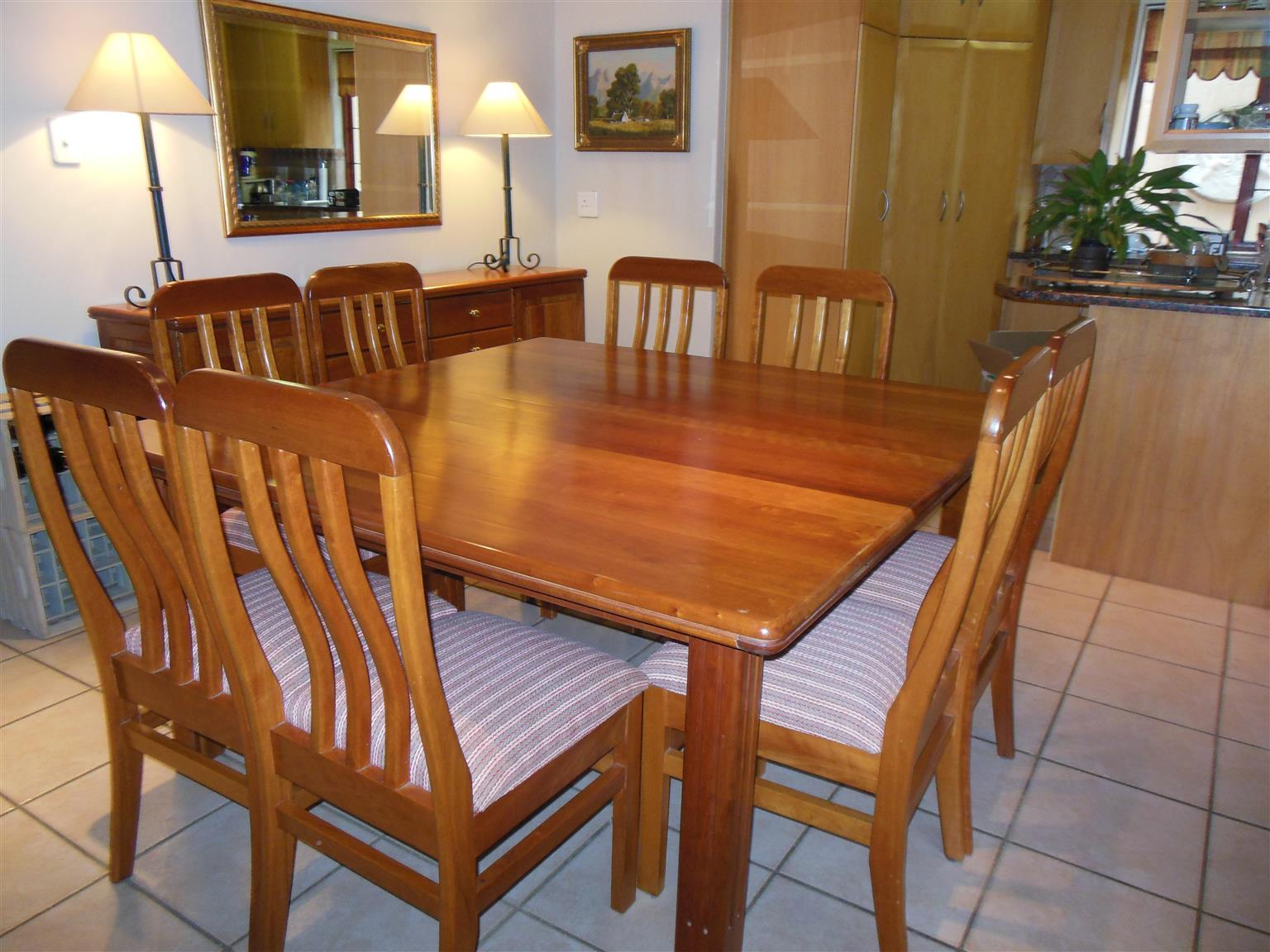 Solid Cherry wood Dining room Suite with Sideboard