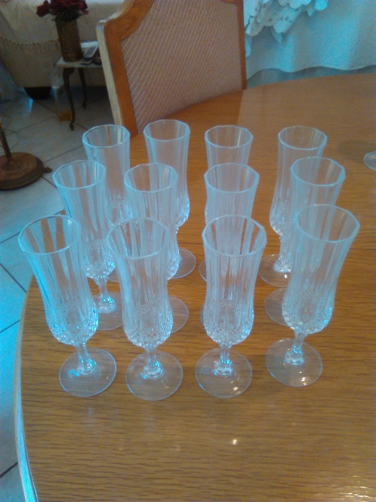 Crystal d Arc Champagne glasses