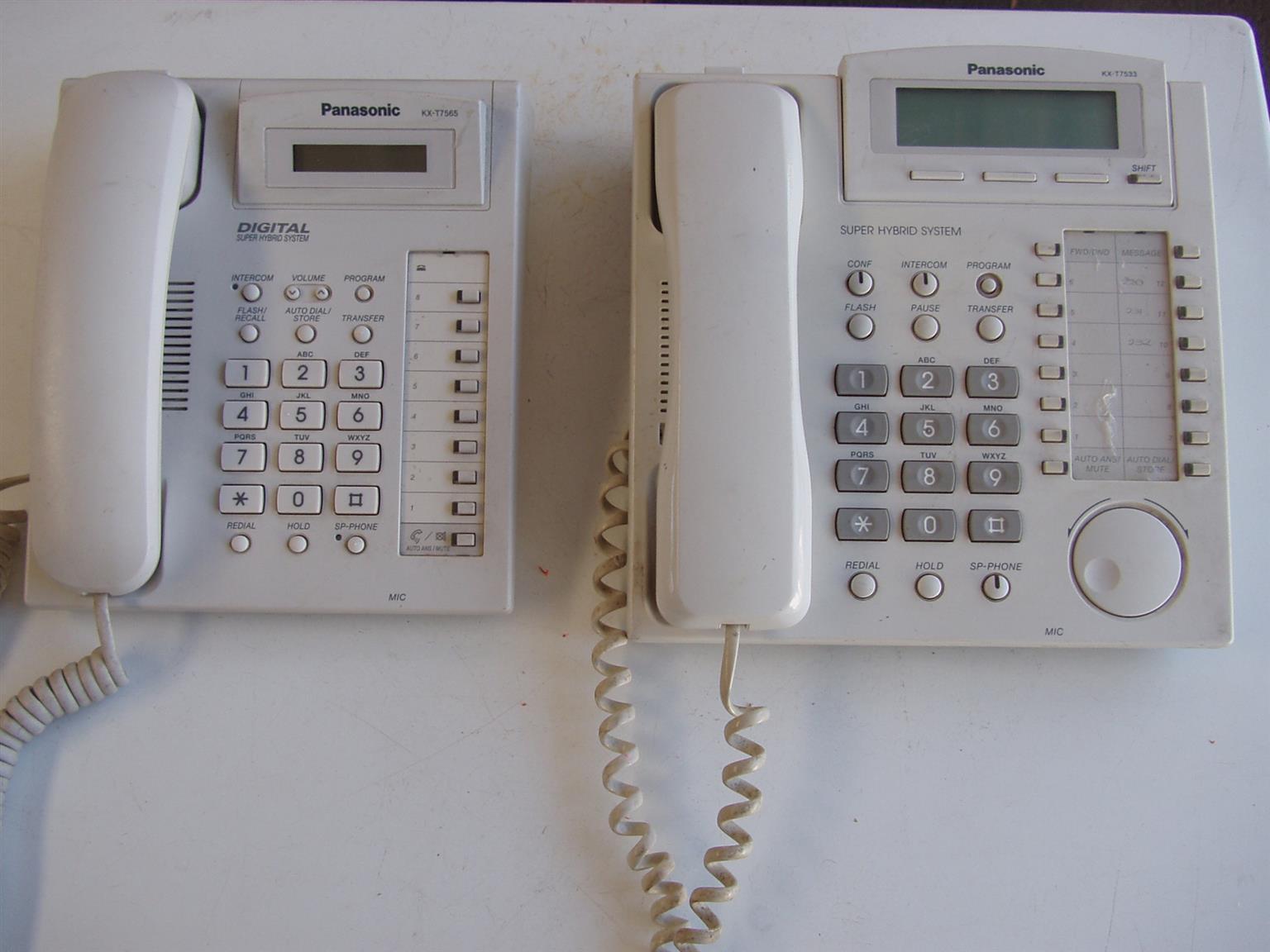 Panasonic KX-T7533  & KX-T7565 - System telephones