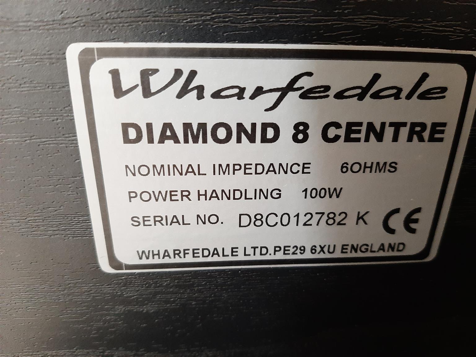 Wharfedale Diamond center and bookshelf speakers