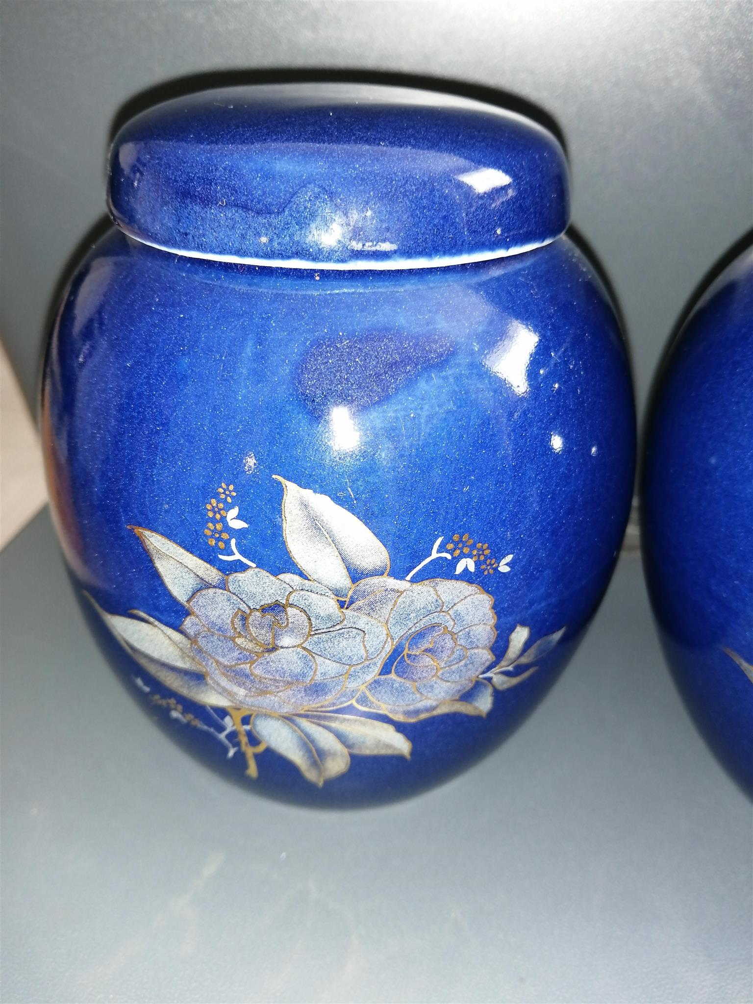 Vintage Hand Painted Chinese Ceramic Containers